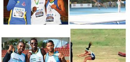 ATLETISMO -  Atletas de Sertãozinho no pódio da Copa Brasil de Provas Combinadas