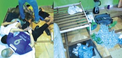 TRÁFICO - Área de lazer servia como refinaria de drogas