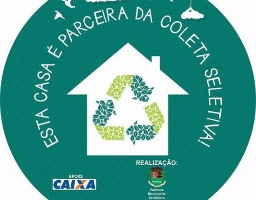 A partir do dia 10 de março, residências dos bairros Cohab II, Inocoop II e Jardim Diamante serão identificadas com o selo da coleta seletiva