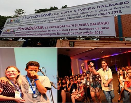 Escola Estadual Edith Silveira Dalmaso tem dois finalistas na Olimpíada de Língua Portuguesa – Escrevendo o Futuro 2016