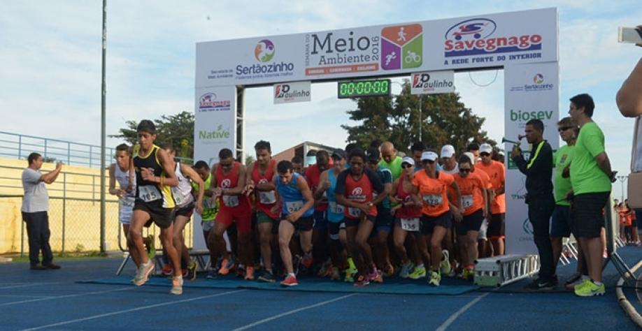 Corrida, caminhada e passeio ciclístico encerram a Semana do Meio Ambiente de Sertãozinho, neste domingo, dia 11