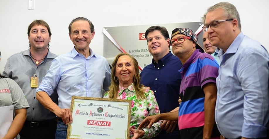ÁRVORE QUE DEU FRUTOS - Vereadora Neli Tonielo presente na ampliação do SENAI