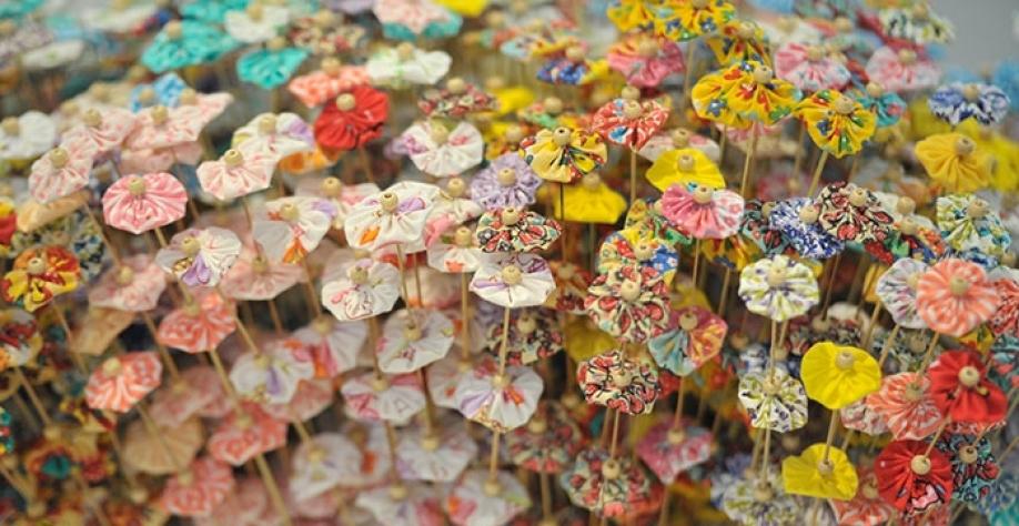 Trabalhos artesanais feitos pelas moradoras do Condomínio estarão expostos na 3ª Feirinha Cultural