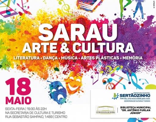 ARTES - Sarau Arte & Cultura em celebração ao Dia dos Museus acontece no dia 18
