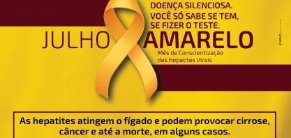 """CONSCIENTIZAÇÃO - """"Julho Amarelo"""" alerta para a prevenção das hepatites virais"""