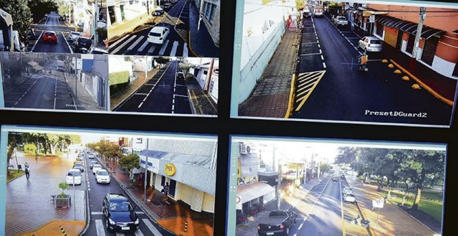 Câmeras instaladas no Centro da cidade ajudam na ação da GCM contra o crime em Sertãozinho