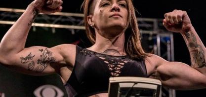Paty Borges representou a região em evento de MMA