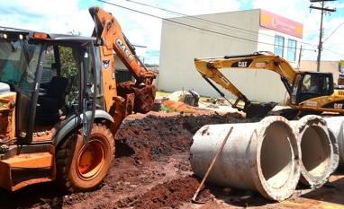 SAEMAS investe na construção de galerias de águas pluviais no bairro São João