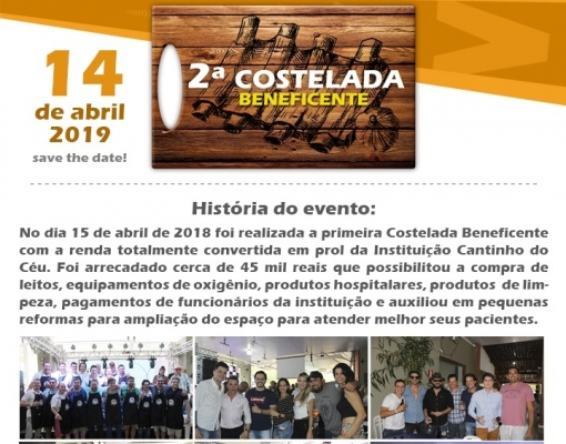 SOLIDARIEDADE - Confraria Borracharia realiza 2ª Costelada Beneficente