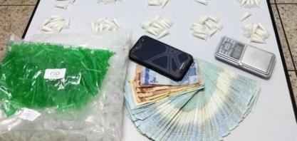 Polícia Militar prende homem por suspeita de tráfico de drogas no Jardim Santa Marta