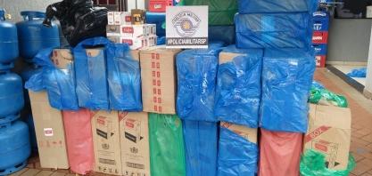 Cigarros contrabandeados são apreendidos no Santa Rosa II