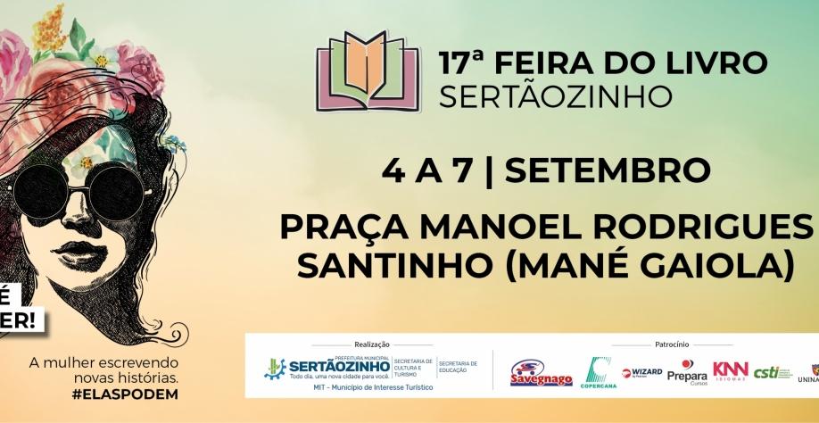 17ª Feira do Livro de Sertãozinho começa na quarta-feira, dia 04