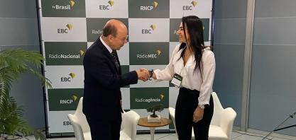 Diretora Rita Tonielo participa de reunião com a EBC/TV Brasil, na capital federal