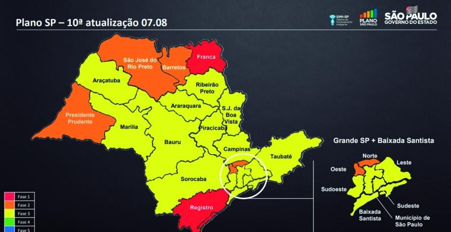 Plano SP: Governo confirma Sertãozinho na fase amarela