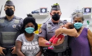 Policiais militares salvam recém-nascido engasgado em Pitangueiras