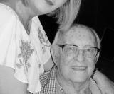 Pai e filha: Paula e Jorge Guilherme Schmidt