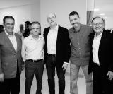 Dr. Pedro Palocci, Dr. Roberto Marziale, Dr. Francisco Coletto, Dr. Ricardo Oliveira e Dr. Percival Martineli
