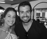 Marina Ferreira e o DJ Leo Pignata