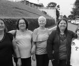 Jocelina Alves, Nazaret Braga de Oliveira, Maria de Lourdes Bonani, Valeria e Duda Bonarelli