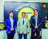 Debate na STZ TV: Da esquerda para direita, Niltinho (CIDADANIA), Ederli Batista (PT) e Dr. Claudinei Luis (PSL) estiveram presentes