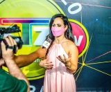 A diretora da STZ TV, Rita de Cássia Tonielo, durante entrevista sobre debate realizado na emissora