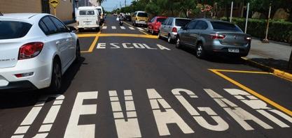 TRÂNSITO - Secretaria de Segurança Pública reforça sinalizações de trânsito no município