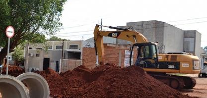SAEMAS investe na construção de galerias de águas pluviais no Jardim Canaã