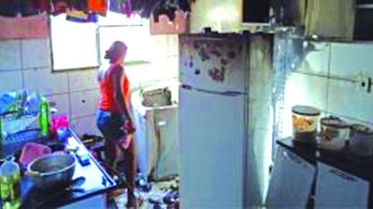 Apartamento pega fogo no Condomínio Aragão I