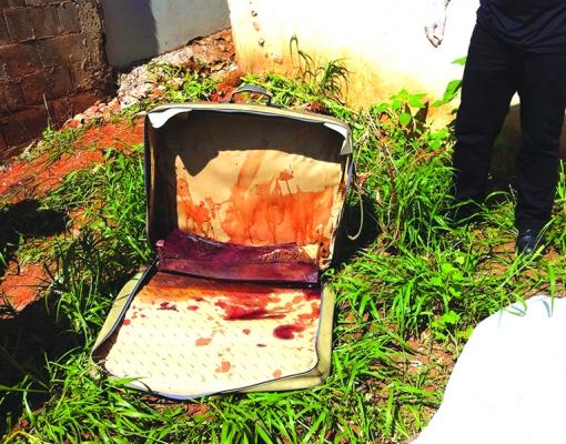 Mulher foi encontrada morta dentro de mala em um terreno baldio. CREDITO: DIVULGAÇÃO