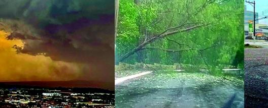 Forte chuva cai em Sertãozinho na tarde desta última quinta feira