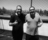 Ilson da liga, (organizador da competição) e Guilherme, da Fábio Carille Escola de Futebol