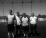 Carlos Giora, Jair Filho, Ká e Baltazar (árbitros da Liga Sertanezina de Futebol)