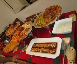 Degustação: mesa de quentes