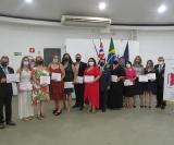 Empossados: os rotarianos do novo clube de Ribeirão Preto