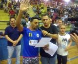O atleta Mateus Vaz faz o 'juramento do atleta'
