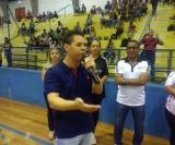 O vice prefeito Niltinho ficou feliz com a presença do público no Docão