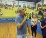 O prefeito Zezinho Gimenes agradeceu e parabenizou todos os presentes na abertura do evento