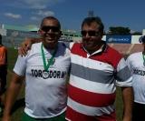 O técnico Si (C.A. Sertanezino) vice campeão, ao lado de Vilmar